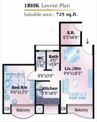 V R Mittal Builder Keshav Kunj 3 (1BHK+1T (725 sq ft)   Servant Room Apartment 725 sq ft)