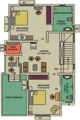 Arya 12th Milestone (3BHK+3T (2,050 sq ft) Villa 2050 sq ft)