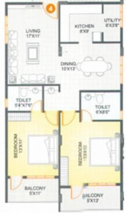 Pegasus Heritage Plaza (2BHK+2T (1,330 sq ft) Apartment 1330 sq ft)