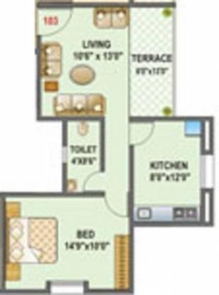 Mark Umangg (1BHK+1T (600 sq ft) Apartment 600 sq ft)