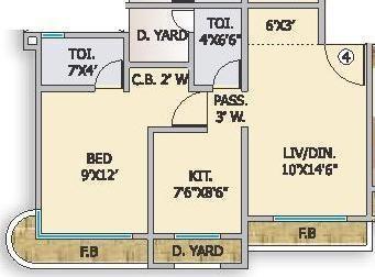 Unique Unique Aurum (1BHK+2T (650 sq ft) Apartment 650 sq ft)