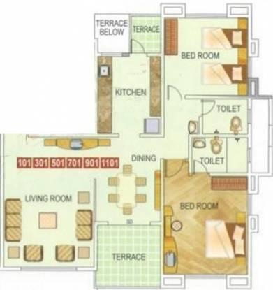 Amar Ornate (2BHK+2T (1,217 sq ft) Apartment 1217 sq ft)