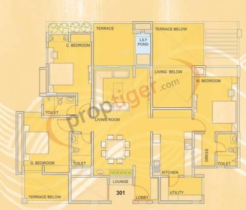 Eisha Polaris (3BHK+3T (1,900 sq ft) Apartment 1900 sq ft)
