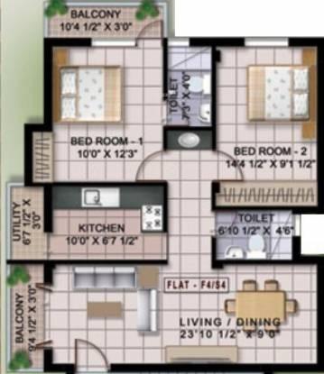 Deva Shre Homes (2BHK+2T (1,000 sq ft) Apartment 1000 sq ft)