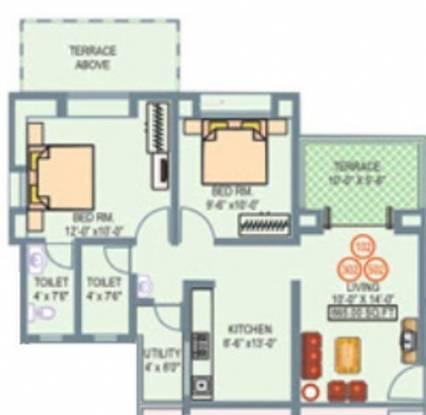 Anandtara Sayajiraje Avenue (2BHK+2T (865 sq ft) Apartment 865 sq ft)