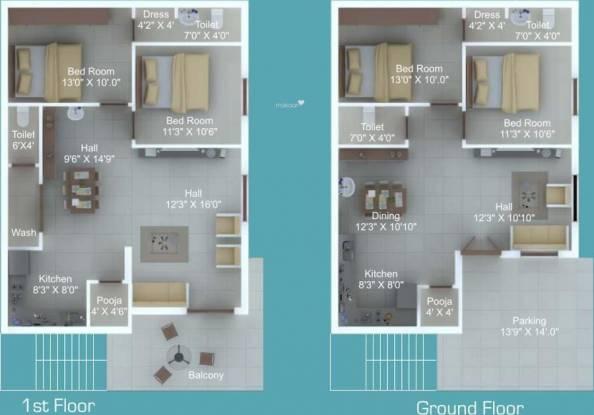 Sampada Sampada Homes (4BHK+4T (2,250 sq ft)   Pooja Room Villa 2250 sq ft)
