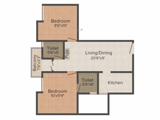 Sumathi Elegance (2BHK+2T (860 sq ft) Apartment 860 sq ft)