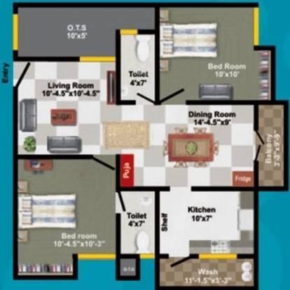 Sumathi Elegance (2BHK+2T (908 sq ft) Apartment 908 sq ft)
