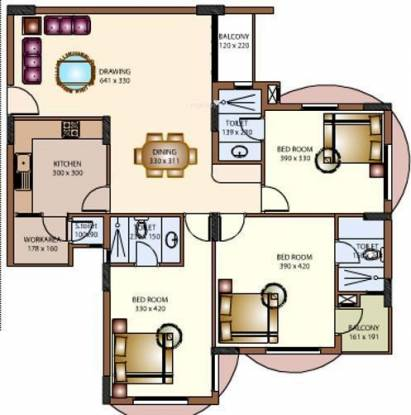 National Excellency (3BHK+3T (1,495 sq ft) Apartment 1495 sq ft)