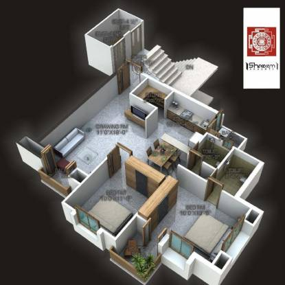 Shreem Shrushti (2BHK+2T (1,321 sq ft) Apartment 1321 sq ft)