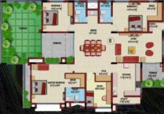 Coromandel Coral Krishna (3BHK+3T (3,143 sq ft) Apartment 3143 sq ft)