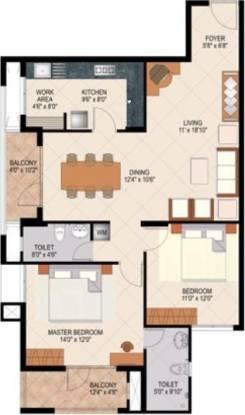 Mohtisham Coral (2BHK+2T (1,275 sq ft) Apartment 1275 sq ft)