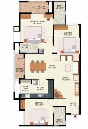Mohtisham Coral (3BHK+3T (1,550 sq ft) Apartment 1550 sq ft)