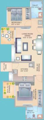 S&M The Palazzo (2BHK+2T (915 sq ft) Apartment 915 sq ft)