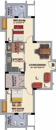 Casagrand Tulipso (2BHK+2T (980 sq ft) Apartment 980 sq ft)