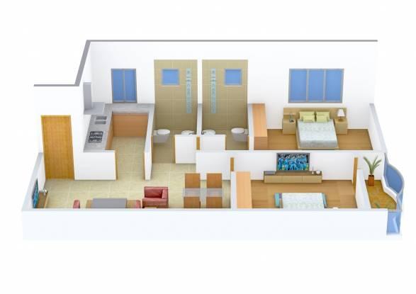 Natural Haldiram Enclave (2BHK+2T (1,020 sq ft) Apartment 1020 sq ft)