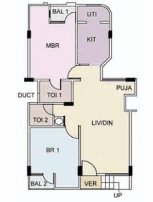 Raja Raja Rajeshwari Nivas (2BHK+2T (936 sq ft) Apartment 936 sq ft)
