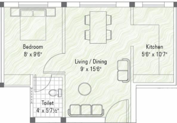 Sekaran Woodrow Manor (1BHK+1T (425 sq ft) Apartment 425 sq ft)