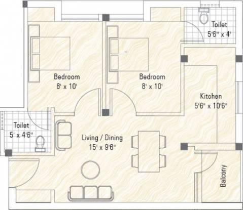 Sekaran Woodrow Manor (2BHK+2T (650 sq ft) Apartment 650 sq ft)