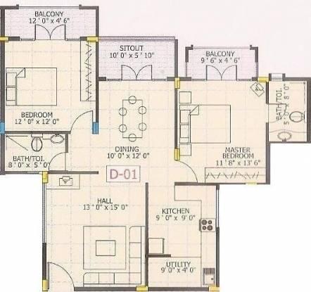 Chitrakut Century (2BHK+2T (1,330 sq ft) Apartment 1330 sq ft)