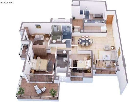 Tata Capitol Heights (3BHK+3T (2,050 sq ft) + Study Room Apartment 2050 sq ft)