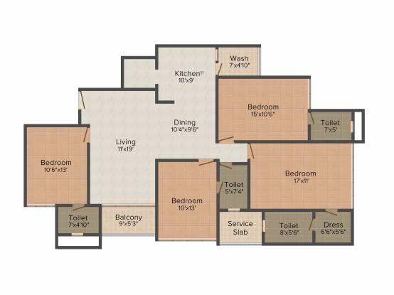 Dev Group Dev Aurum (4BHK+4T (2,500 sq ft) Apartment 2500 sq ft)