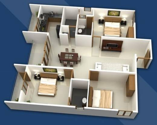 Manito Commanders Marvel (3BHK+3T (1,680 sq ft) Apartment 1680 sq ft)