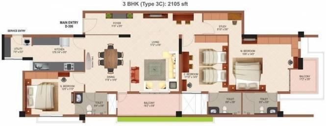 Mohtisham Canopy (3BHK+3T (2,105 sq ft) Apartment 2105 sq ft)