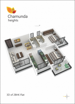 Chamunda Heights (2BHK+2T (1,140 sq ft) Apartment 1140 sq ft)
