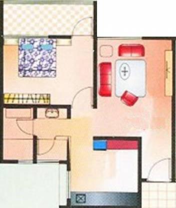 BK Oxygen Valley (1BHK+1T (630 sq ft) Apartment 630 sq ft)