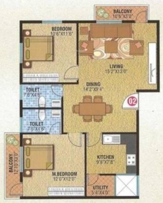 Star Vibha Enclave (2BHK+2T (1,134 sq ft) Apartment 1134 sq ft)