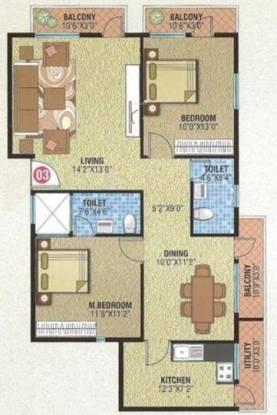Star Vibha Enclave (2BHK+2T (1,188 sq ft) Apartment 1188 sq ft)