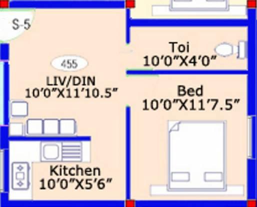 ARRR Thiruvin Nagar (1BHK+1T (455 sq ft) Apartment 455 sq ft)