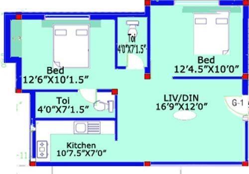 ARRR Thiruvin Nagar (2BHK+2T (721 sq ft) Apartment 721 sq ft)