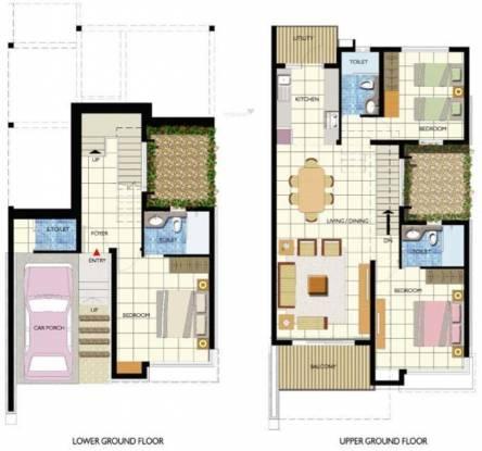 Umiya Seascapes Row Villas (3BHK+3T (1,800 sq ft) Villa 1800 sq ft)