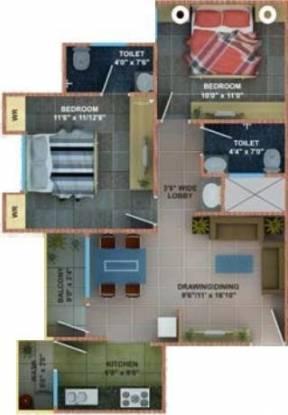 Fortune Soumya Heritage (2BHK+2T (726 sq ft) Apartment 726 sq ft)