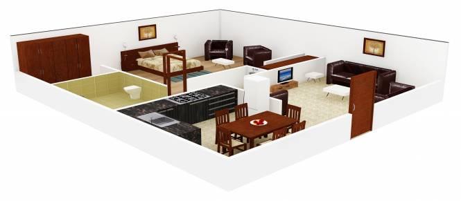Audumbar Sun View (1BHK+1T (645 sq ft) Apartment 645 sq ft)
