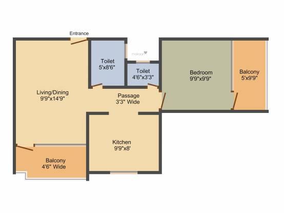 Manas Ashmit Residency (1BHK+1T (577 sq ft) Apartment 577 sq ft)