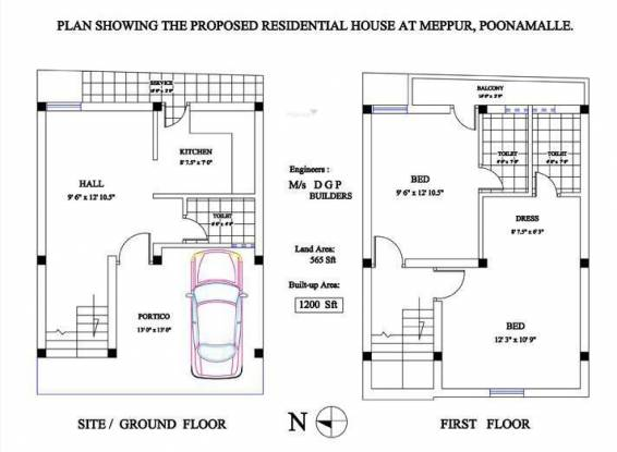 DGP Meppur (2BHK+3T (1,200 sq ft) Villa 1200 sq ft)