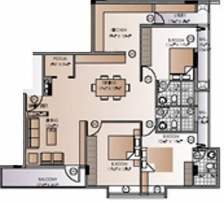 Kay Arr And Co Elphinston (3BHK+3T (1,690 sq ft) + Pooja Room Apartment 1690 sq ft)