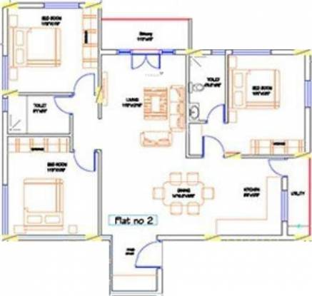 Tirumala Greens (3BHK+3T (1,500 sq ft) Apartment 1500 sq ft)