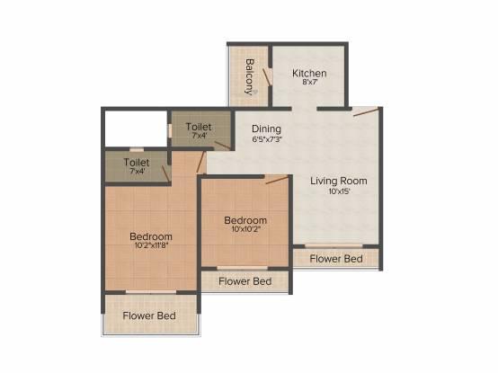Bhagwati Sky Oasis (2BHK+2T (1,180 sq ft) Apartment 1180 sq ft)