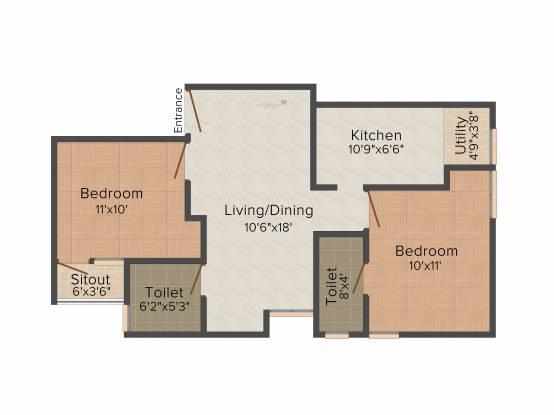 Arrummula Saravana Enclave (2BHK+2T (924 sq ft) Apartment 924 sq ft)