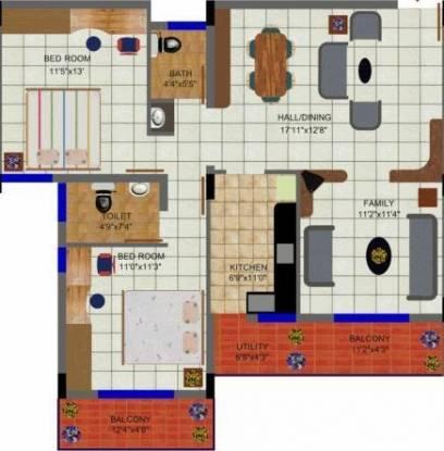 Sakshi Mansion (2BHK+2T (1,302 sq ft) Apartment 1302 sq ft)