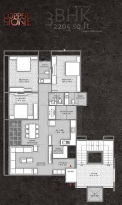 Setu Copper Stone (3BHK+3T (2,202 sq ft) Apartment 2202 sq ft)