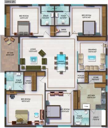 Sri Fortune Exotica (4BHK+4T (3,395 sq ft) Apartment 3395 sq ft)