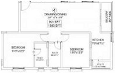 Maphar Florence (2BHK+2T (1,085 sq ft) Apartment 1085 sq ft)