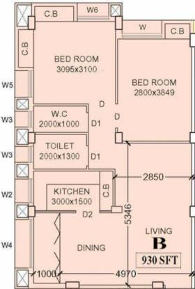Siddharth Groove (2BHK+1T (930 sq ft) Apartment 930 sq ft)