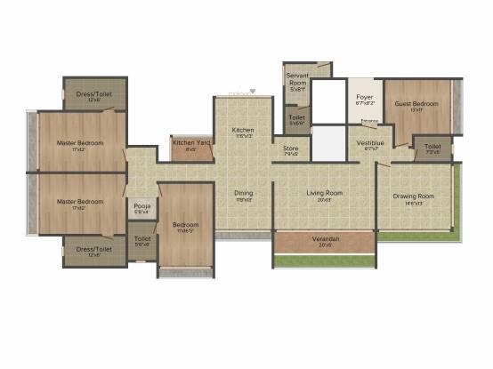 Sankalp Sapphire (4BHK+4T (3,800 sq ft) Apartment 3800 sq ft)