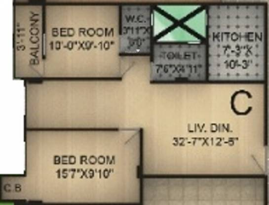 Shree Group Shreedhar Apartment (2BHK+1T (727 sq ft) Apartment 727 sq ft)